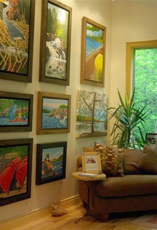 Paintings on display in the Gallery